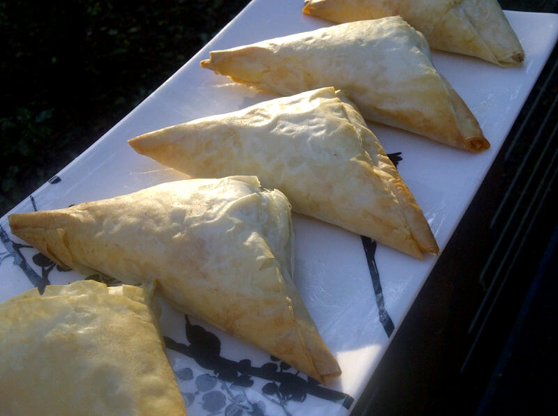 Recipe: Cheese and spinach triangles