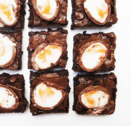 Cadbury Creme Egg Brownie