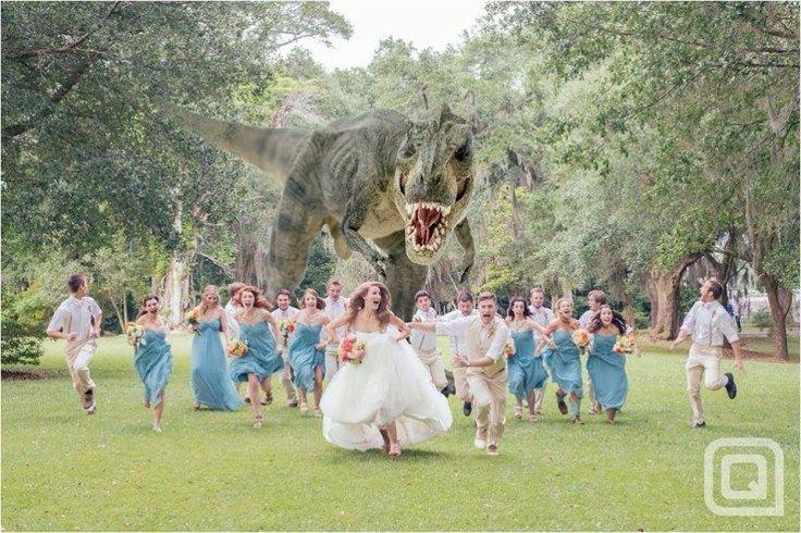 wedding-party-dinosaur