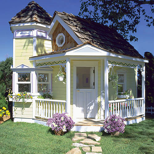 14 incredible cubby houses housegoeshome for Incredible house plans