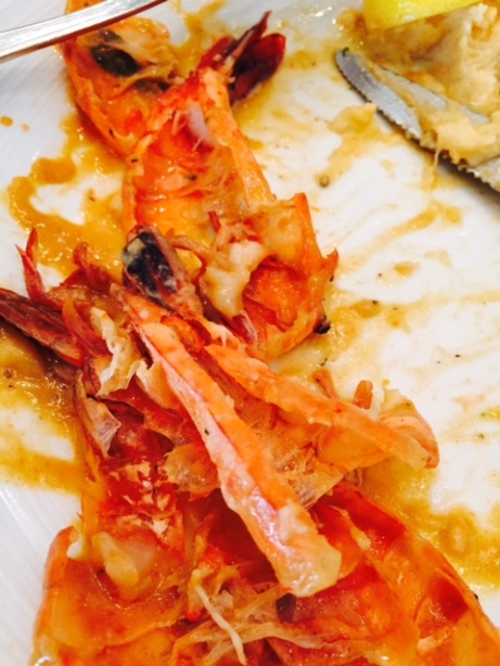 I forgot to take a photo of my prawns BEFORE I gobbled them up