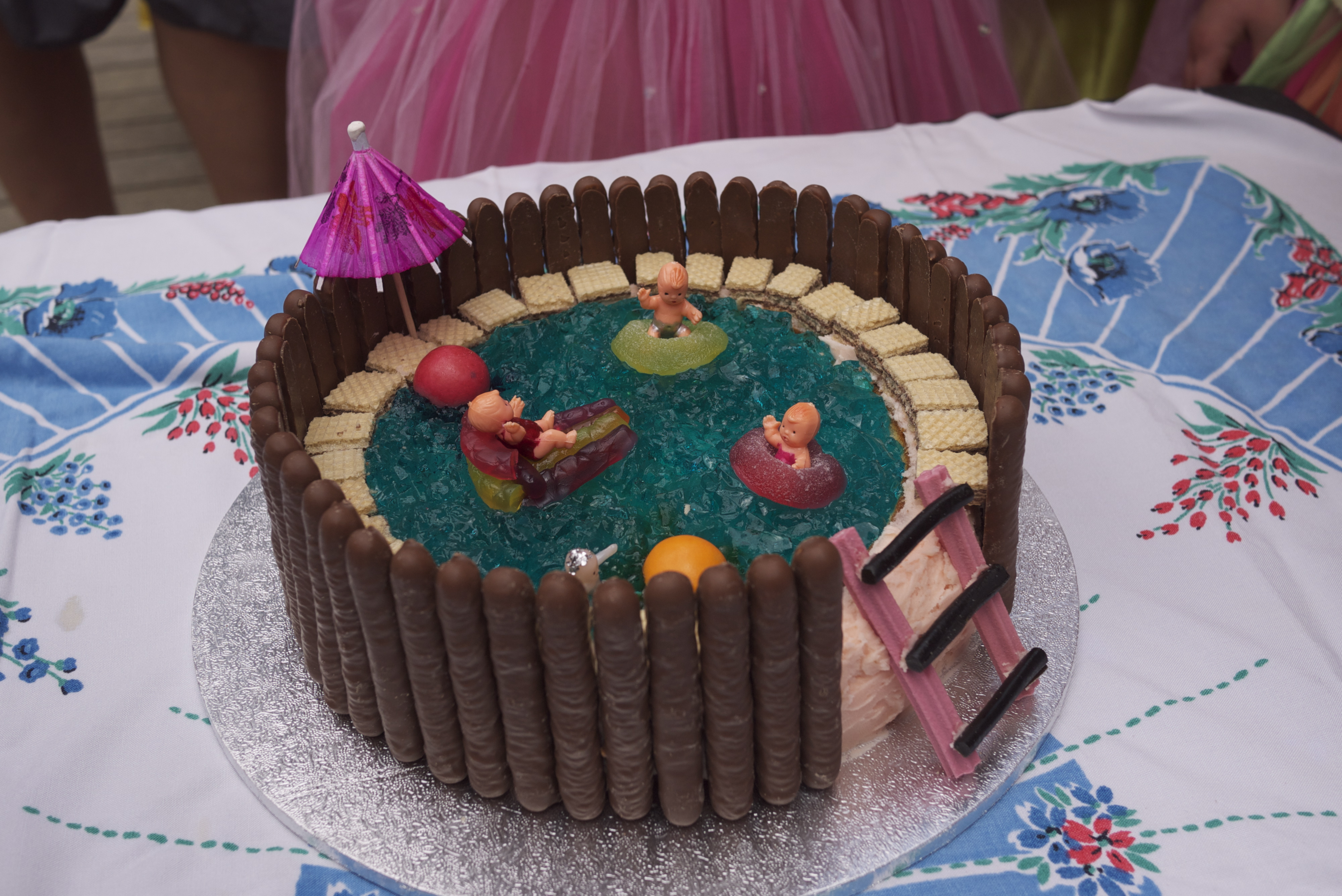 It S Pool Party Time (again!) Housegoeshome. ➤. Cake Designs Swimming ...
