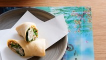 Among the tasty morsels we tried were these soft shell crab pancake rolls with hoi sin. Nom, nom!