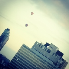 It was quite surreal to look out the hotel room window the next morning and see hot air balloons floating through Melbourne CBD.