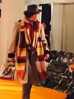 A Tom Baker fan struts his stuff.