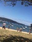 Games on beautiful Balmoral Beach.