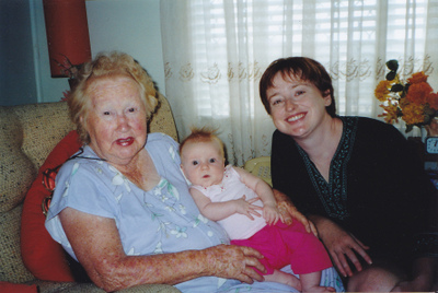 My eldest meeting my Nan.