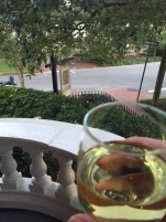 Complimentary evening tipple on the balcony at Kehoe House.