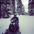 We went snowmobiling! It was one of the highlights of DD's trip.