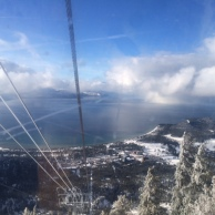 DD's view from the chairlift on Heavenly Mountain.