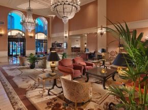 The lobby of our hotel.