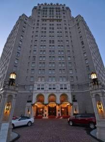 The hotel facade.