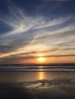 Ocean Beach at sunset.