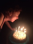 Blowing out my birthday candles, pretend you can't see my double chin ...