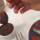 Chocolate dipped strawberry time.