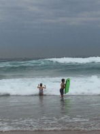 The youngest was very annoyed when I retired from the surf. About 15 minutes does me, she can stay in there for HOURS.