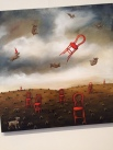 """Invasion of the Red Chairs"" by Karen Atkins."
