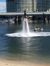 We saw people doing this on our bike ride - some sort of water board riding.