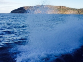DD took this photo of the sea spray on the ferry on our way home. We love the ferry.