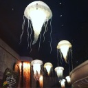 The amazing lights at Farallon - a seafood restaurant owned by Andre Agassi.