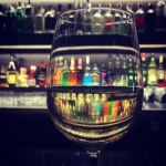 A glass of chardy at the Intercontinental.