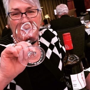 CEO Sandra was thrilled with the wine that won the drinks association Perennial Trophy for Best Shiraz at Sydney Royal Wine Show, Chalkers Crossing CC2 Shiraz.