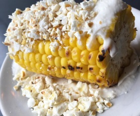 Loved the roast corn with popcorn and tarama.