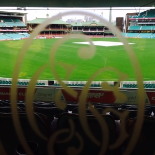 Arty SCG shot at 6.30am before the guests arrived at the drinks association network breakfast.