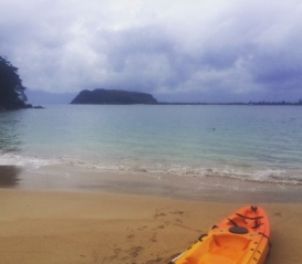 Kayaking on Pittwater.
