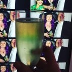Our first attempt at photo booth snaps, with bonus champers.
