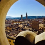 The view from one of the levels of Giotto's Tower.
