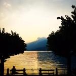 Sunset in Bellagio.