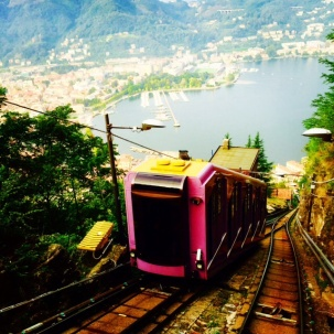 The Brunate funicular.