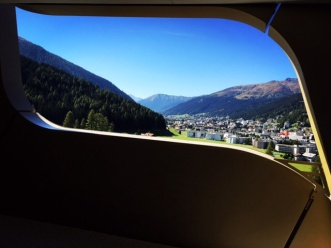 The view from our Davos hotel.