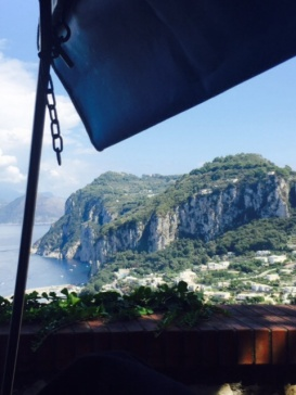 The view from the taxi to Anacapri.
