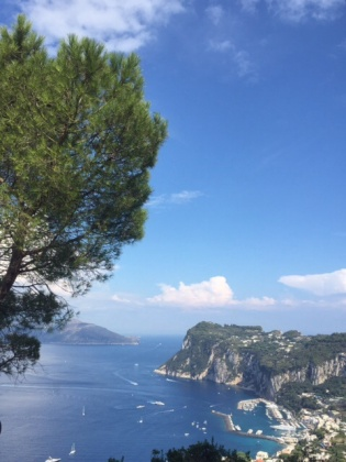 The view from the Hotel San Michele.