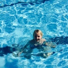 The youngest has a dip.