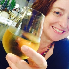 Keeping the kids occupied while waiting for their meals by getting them to take wine selfies ... Great mum moment.