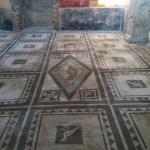 An amazing mosaic floor.