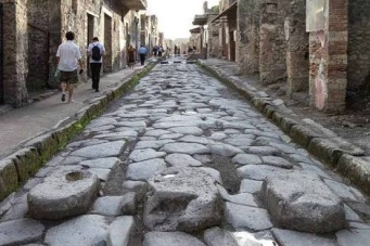 One of the endless streets of Pompeii.