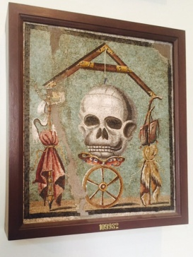 I thought the eldest would enjoy this skull mosaic from Pompeii.