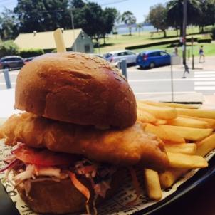 Our barra burger.
