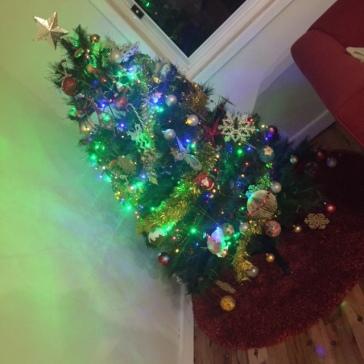 The rag-tag Christmas tree.