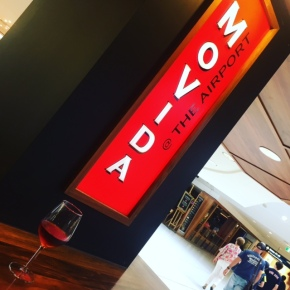 Had to check out Movida@theairport ... the patatas bravas were delicious but a bit of a shock at $12 for six little hollowed out potato halves filled with aioli and spicy tomato sauce ...