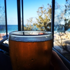 An icy cider at Noosa SLSC.