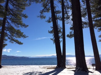 A gorgeous Lake Tahoe beach.