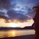 Sunset in Lake Tahoe.