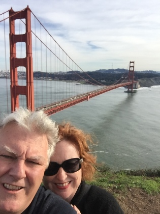 Golden Gate selfie.