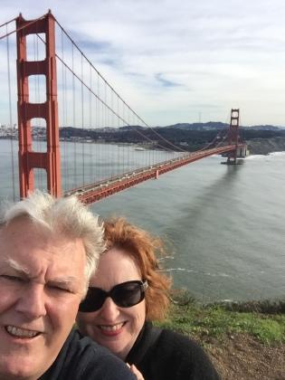 Golden Gate selfie.