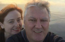 San Fran beach selfie.